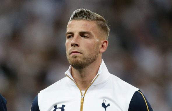 Tottenham Hotspur's Toby Alderweireld prior to the start of the Champions League match at the Wembley Stadium, London. Picture date: Wednesday September 14, 2016. Photo credit should read: Yui Mok/PA Wire